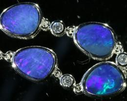 6.00 CTS Doublet Opal Bracelet , top design sterling silver  SB1143