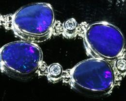 6.00 CTS Doublet Opal Bracelet , top design sterling silver  SB1144