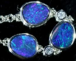 6.00 CTS Doublet Opal Bracelet , top design sterling silver  SB1146