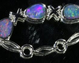 6.00 CTS Doublet Opal Bracelet , top design sterling silver  SB1147