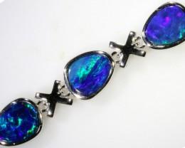 6.00 CTS Doublet Opal Bracelet , top design sterling silver  SB1148