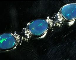 6.00 CTS Doublet Opal Bracelet , top design sterling silver  SB1149