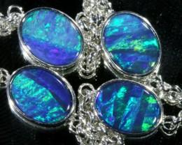 6.00 CTS Doublet Opal Bracelet , top design sterling silver  SB1152