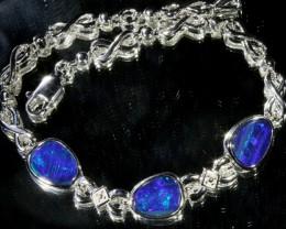 6.00 CTS Doublet Opal Bracelet , top design sterling silver  SB1150