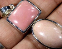 42.2 CTS PINK OPAL FLOWER PENDANT SILVER BALE OF-1806
