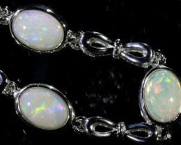 Solid Fire Opal Bracelet , top design sterling silver  SB1154