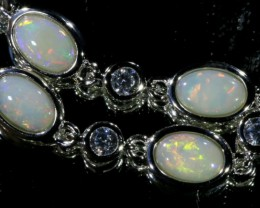 Solid Fire Opal Bracelet , top design sterling silver  SB1155