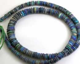102 CTS BLACK OPAL BEADS STRAND TBO-6114