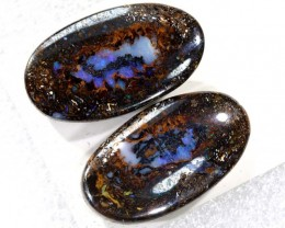 42.80CTS BOULDER OPAL PAIRS  POLISHED CUT STONE TBO-6141