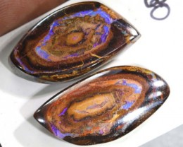 36.20CTS BOULDER OPAL PAIRS  POLISHED CUT STONE TBO-6144