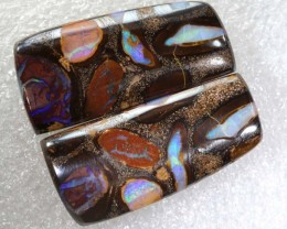 44.30CTS BOULDER OPAL PAIRS  POLISHED CUT STONE TBO-6149