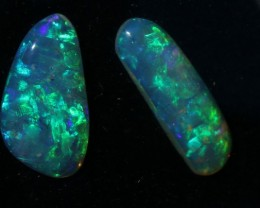 Beautiful Pair Green Crystal 3 Carats
