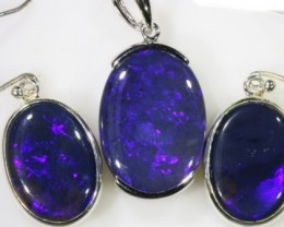 Rare Electric Blue  Black opal electric blue set SB 531