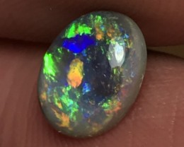 1.96ct Lightning Ridge Gem Dark Opal LR156