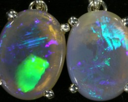 5.70 CTS Crystal opal earrings set in  silver  SB 538