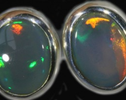 1.60 CTS Black opal earrings set in  silver  SB 540