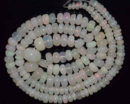 53.80 Ct Natural Ethiopian Welo Opal Beads Play Of Color