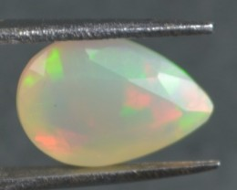 1.70 Cts Faceted Ethiopian Welo Fire Opal Natural No Reserve