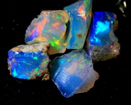 Parcel Rough  Wello Opal    ~  cts.tot 6.30 5 stones    RC 551   Gem Grade