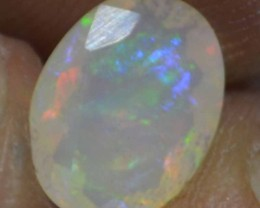 1.50 Cts Faceted Ethiopian Welo Fire Opal Natural No Reserve