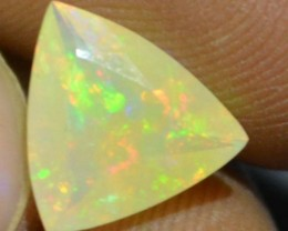 1.31 Cts Faceted Ethiopian Welo Fire Opal Natural No Reserve