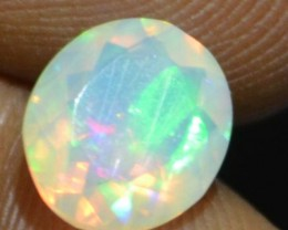 1.20 Cts Faceted Ethiopian Welo Fire Opal Natural No Reserve