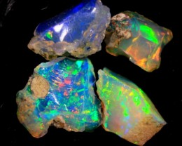 NR Rough  Wello Opal  cts. 5.45 4 stones       RC 532   Gem Grade