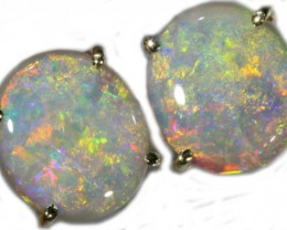 8.36 CTS 9K GOLD OPAL EARRINGS FROM LIGHTNING RIDGE [SOJ5629]