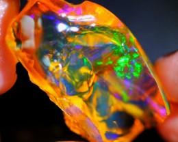 74Ct Green Color Play Ethiopian Welo Rough Specimen Rough Opal