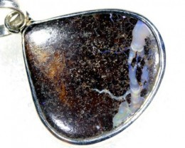 32 CTS BOULDER OPAL STERLING SILVER PENDANT OF-1864