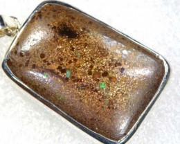 55 CTS BOULDER OPAL STERLING SILVER PENDANT OF-1865