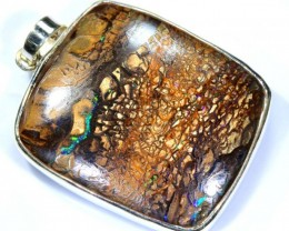 112 CTS BOULDER OPAL STERLING SILVER PENDANT OF-1874