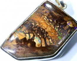 95 CTS BOULDER OPAL STERLING SILVER PENDANT OF-1877
