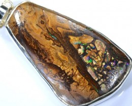 84 CTS BOULDER OPAL STERLING SILVER PENDANT OF-1890