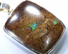 72 CTS BOULDER OPAL STERLING SILVER PENDANT OF-1893