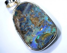 40 CTS BOULDER OPAL STERLING SILVER PENDANT OF-1897