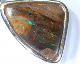 13 CTS BOULDER OPAL STERLING SILVER PENDANT OF-1905