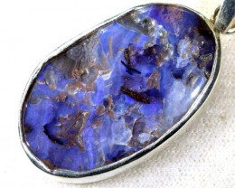 21 CTS BOULDER OPAL STERLING SILVER PENDANT OF-1908