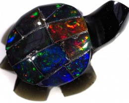 6.60 CTS FIREY  MEXICAN OPAL TURTLE CARVING [VS7497]