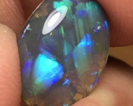 6.13ct Lightning Ridge Gem Black Crystal Opal LR207