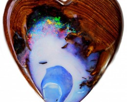 177.60 CTS LOVE HEART SHAPED BOULDER OPAL [BMS54]
