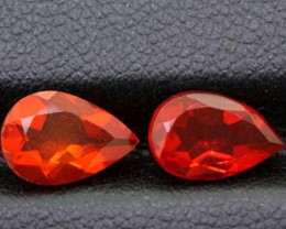 1.70CTS OPAL MEXICAN FACETED PAIR 2 PCS  FOB-1029
