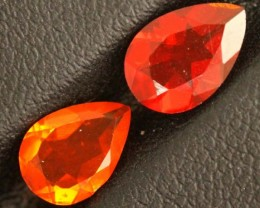 1.4CTS OPAL MEXICAN FACETED PAIR  2 PCS FOB-1035