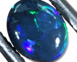 N1  -  0.80CTS BLACK SOLID OPAL STONE  TBO-6346