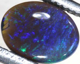 N1  -  0.50CTS BLACK SOLID OPAL STONE  TBO-6349