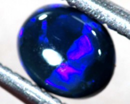 N 1 -  0.65CTS BLACK SOLID OPAL STONE  TBO-6350