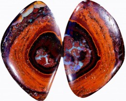 54.30 CTS PAIR BOULDER OPAL - WELL POLISHED [BMA4338]