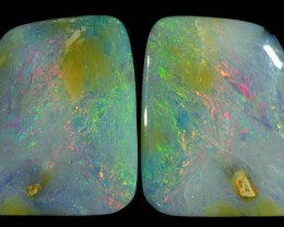 19.35 CTS BOULDER OPAL PAIR -TOP POLISH [BMA4339]