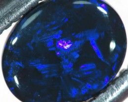 N1  -  0.70CTS BLACK SOLID OPAL STONE  TBO-6374
