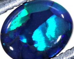N1  -  0.70CTS BLACK SOLID OPAL STONE  TBO-6376